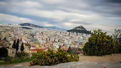 Athens Cityscape [Explored] (Tassos Giannouris) Tags: athens greece city cityscape building sky lykavittos landscape clouds trees hill philopappos long exposure overcast