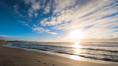 Evening light (Tommy Høyland) Tags: view sand landscape sunset peaceful nature reflection outdoor evening clouds blue beach waves water north alone afternoon soothing seascape nobody shore sea horizen northsea fujifilm fuji xt2 xf1024
