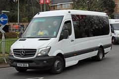 Horsey, Kennington RX14 BGU, Mercedes Sprinter outside Cheltenham racecourse (majorcatransport) Tags: londonareabuses horseykennington mercedesbenz mercedessprinter cheltenham evm