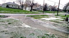A River Runs Through It (CMesker) Tags: water hail storm hailstorm frontporch thisoldhouse