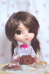 I'm going to eat it ALL! (Dragonella~) Tags: pullip doll alte coco groove obitsu rewigged monique jojo moniquejojo pullipobitsu pullipalte pullipdoll cake cute dragonella pullipcoco nikon d5100