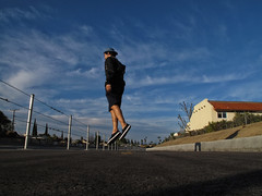 just float on (juliandema) Tags: float jump levitate cool travel outdoors walk people awesome create bluesky blue clouds