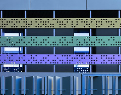New high school (chrisk8800) Tags: building highschool facade barcelona colors dots lines geometric windows