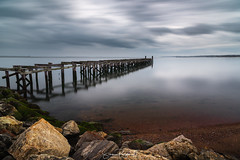 Lonely Pier* (Simmie | Reagor - Simmulated.com) Tags: 2017 april connecticutphotographer forthalepark landscape landscapephotography longislandsound longexposure nature naturephotography newhaven outdoors pier seascape spring unitedstates cloudy digital https500pxcomsreagor httpswwwinstagramcomsimmulated overcast water wwwsimmulatedcom