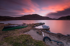 Sunset over Stac Gorm .. (Gordie Broon.) Tags: stacgorm hills lochruthven tullich croachy invernessshire scottishhighlands scotland caledonia alba schottland landscape paysage ecosse sunset paisaje escocia farr scozia fishingboats beach le hugeln collines colinas inverness strathnairn longexposure haida10stopfilter gordiebroonphotography szkocja northernscotland scenery clouds lago lac browntrout flyfishing rspb craigruthven aberarder canon5dmklll canon1635f4l 2017 scenic scenario geotagged