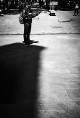 On the edge of the abyss... (elgunto) Tags: barcelona elborn people streetphoto city street shadow light highcontrast silhouette blackwhite bw sonya7 sonyfe55mm18