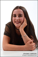 portrait-photographer (graeme cameron photography) Tags: photo shoot studio fun grinning teenager