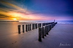 You can't cross the sea merely by standing and staring at the water (Alec Lux) Tags: beach breakwater coast coastline colorful goldenhour groyne kruishoofd nature netherlands sand sea seascape sky steps sunset waves