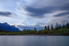 Bow River (travellingred) Tags: 2016 banff canada rockies rockymountains alberta longexposure blue hour