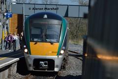 22020 arrives at Ballinasloe, 8/4/17 (hurricanemk1c) Tags: railways railway train trains irish rail irishrail iarnród éireann iarnródéireann 2017 22000 rotem icr rok 4pce 22020 ballinasloe 1325heustongalway