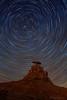 "Star Trails over Mexican Hat Rock, Utah (IronRodArt - Royce Bair (""Star Shooter"")) Tags: polaris northstar startrails stars starrynight starrynightsky mexicanhat mexicanhatrock butte geology rock natural formation nightphotography nightsky nightscape utah astronomy longexposure"
