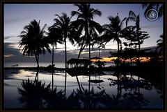 Myanmar (Burma) (Wioletta Ciolkiewicz) Tags: myanmar burma asia bayofbengal indianocean ngwesaung sunset aureumpalacehotelresort sky water photoborder outdoor wiolettaciolkiewicz