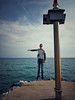 Floating away in the Follonica wind (Marcello Iaconetti Photography) Tags: huawei p10 takenwithhuawei carbonifera tuscany toscana follonica me self mare beach ocean wave rayban meltinpot porto port sunglasses floating sun sky clouds nuvole nike