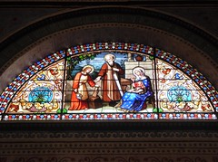 Holy Family (Granpic) Tags: france lotetgaronne nouvelleaquitaine nérac church eglise stnicholasnérac window stainedglass 19thcenturyglass vitrail vidreriadecolores josephvilliet stjoseph holyfamily