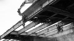Deconstruction (Kay Wahdan) Tags: a45 abriss amazing autobahn bauwerke blackwhite bridge brücke buildings contrast demolition frühling hagen kontrast lennetal nordrheinwestfalen ruhrvalley ruhrgebiet schwarzweis spring technik technology