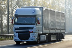 TJE 14234 (panmanstan) Tags: daf xf wagon truck lorry commercial curtainsider freight transport international poland haulage vehicle a63 everthorpe yorkshire