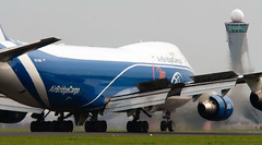 Boeing 747-400F (H&T PhotoWalks) Tags: boeing 747400f airbridgecargo russia vqbuu polderbaan schiphol amsterdam thenetherlands ams spl eham canoneos400d sigma120400 x3