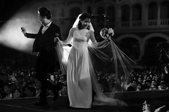 Happy day! (-clicking-) Tags: wedding weddingday happiness happy happywedding happymoment happyday life moment spotlight lighting light bride groom blackandwhite blackwhite nocolors monochrome monotone bw saigon vietnam