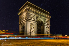 Arc de Triomphe - Paris (figatz) Tags: paris arc de triomphe europe france nightphotography night stars trail lights nikon tokina 1120mm longexposure d5300 sky gorillapod