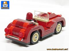 ROADSTER Back (baronsat) Tags: lego model custom moc vehicle cars trucks city roadster minifig scale size hot rod 1930 racer drag racing mafia mob baronsat