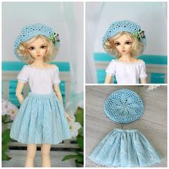 PicMonkey Collage (Elena_art) Tags: msd minifee chloe mod crochet beret handmade handknitted etsy