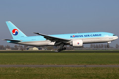 HL8005 09042017 (Tristar1011) Tags: eham ams amsterdam schiphol cargo freighter boeing 777200f b772 koreanaircargo hl8005