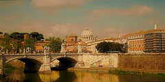 ROMA - Fiume Tevere e San Pietro