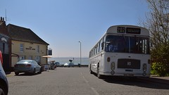 Bus, Bristol RLE 747 waits outside of the Bristol Arms, Shotley, Suffolk. Where else. Ipswich Bus Running day. 09 04 2017 (pnb511) Tags: ipswichtransportmuseum ipswichcorporationtransport suffolk bus running day operating road essex stour water river port peninsula publichouse bristolarms pub