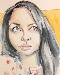 #sktchy #sktchyapp #sketchbook #portrait #drawingoftheday #watercolor #ink (jburns711) Tags: instagramapp square squareformat iphoneography uploaded:by=instagram lofi
