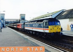 "47840 ""North Star"" (Sparegang) Tags: 47840 47077 47613 d1661 class47 474 brushtype4 sulzer 1m56 crosscountrytrains britishrail westernregion mainlinelivery exeterstdavids"