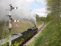 """NTJ17 - 16 - Not """"The Flying Scotsman""""! (nigeltjackson52) Tags: bluebellrailway steam coal smoke red green southernrailway 847 signals"""