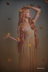 Awaken (SnowiesArt) Tags: girl butterfly butterflies beautiful pretty surreal fairytale fantasy conceptual fineart darkness darkart photoart digitalart digitalmanipulation