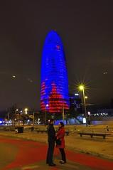 (j.c peaguda) Tags: barcelona agua agbar torre nocturna