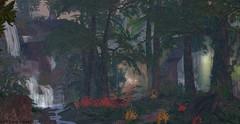 Deep into the wild (Hүυη Ʀαyηε (hyunshiksantosh)) Tags: tree flora waterfall secondlife nature sim jungle art leafs leaf flower