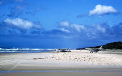 Multi Purpose Fraser Island Beach.  (Explored). (TOXTETH L8) Tags: fraserislanjd queensland australia beach sand pacificocean swimming surfing camping road aircraft airfield tourists coast nickaskwith