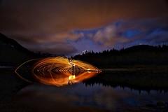 Just spinning my whisk:) edit (John Andersen (JPAndersen images)) Tags: beaverpond bluesky burning creek kananaskis landscape logs middlelake morning snow springs steelwool trees water