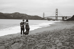 All That Is Needed (Jeremy Brooks) Tags: bw bakerbeach blackwhite blackandwhite bridge california gabryanengagement gabriellacamiccia goldengate goldengatebridge mcveigh mcveighengagement people ryanmcveigh sanfrancisco sanfranciscocounty usa