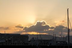 Puesta de sol (David A.L.) Tags: asturias gijón puertodeportivo puestadesol
