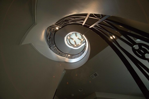 curved Staircase builder Andronic's Construction Charlotte NC