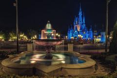 Fountain and Castle (Allen Castillo) Tags: waltdisneyworld wdw disney cinderellacastle fountain magickingdom nightphotography longexposure nikond750 nikon1424