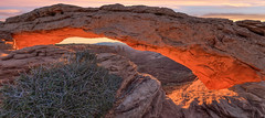 Mesa Arch, Islands in the Sky, Canyonlands, Utah (www.clineriverphotography.com) Tags: utah sunrisesunset canyonlands islandsinthesky mesaarch 2011 usa location light