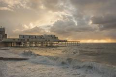 Stormy sunset (dannie843) Tags: aberystwyth pier cymru wales ceredigion sea waves