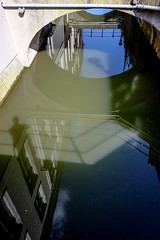 Me and my shadow @ Utrecht (PaulHoo) Tags: utrecht holland city urban fujifilm fuji x70 2017 reflection museumkwartier shadow bridge sky abstract