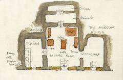 Plan of the cave house, Sassi di Matera, 18th April 2017