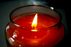 The Light (loveyoruxx) Tags: light lights dark darkness candle red fire fires warmth