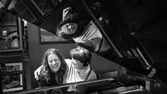 Catching Up (Photoburglar) Tags: friends laughter samsung blackandwhite piano reflections southbank archduke bar