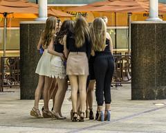 Teenage girls + cell phone = SELFIE! (TAC.Photography) Tags: teens girls teenage selfie detroit dressy humorous whimsical group friends laughter