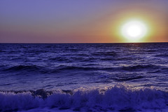 Sunset Over The Waves (C. P. Ewing) Tags: sky waves gulf ocean sunset sun blue water nature natural beauty beautiful stunning striking colorful beach