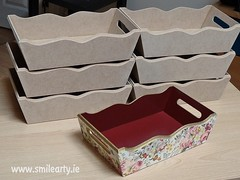 Floral Basket In Burgundy and Gold (Smile Arty) Tags: gift present vintage handmade decoupage crafts arts paint supplies napkins stensils box mdf diy