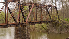 Closer view of abandoned bridge (D A Cameron) Tags: train railroad tracks bridge northshore history americana pennsylvania columbiacounty columbia northeast susquehanna rupert catawissa